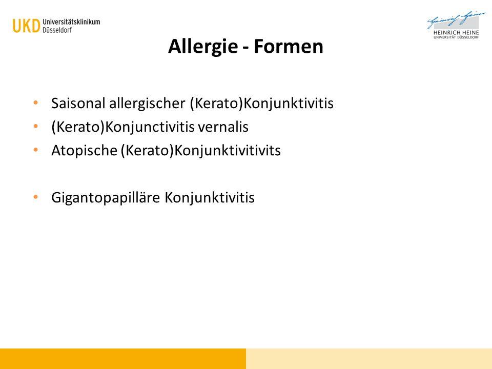 Allergie - Formen Saisonal allergischer (Kerato)Konjunktivitis
