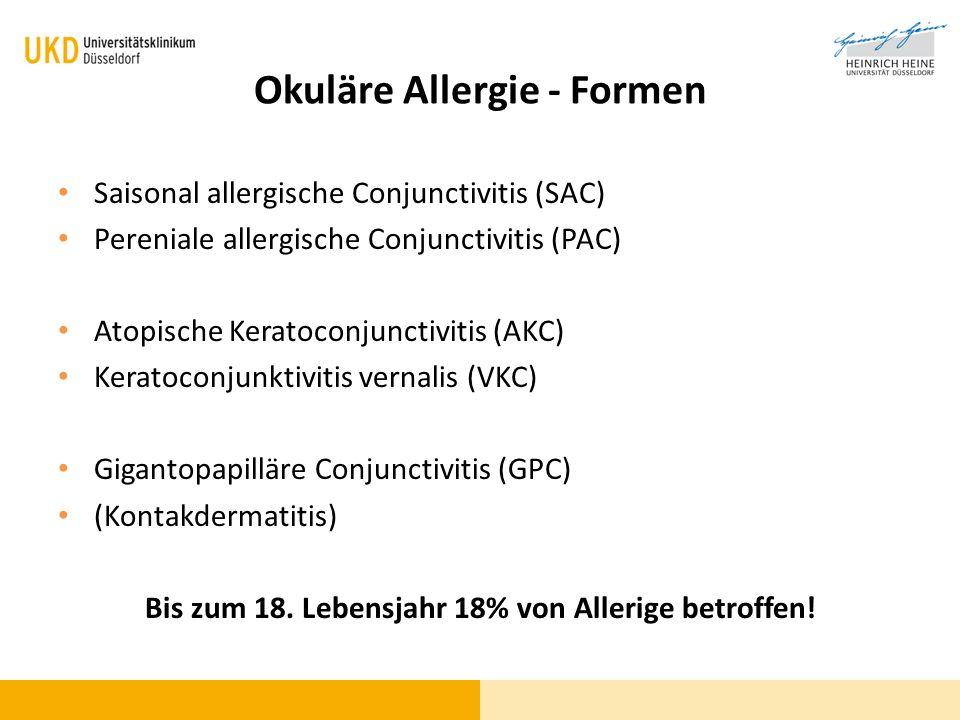 Okuläre Allergie - Formen