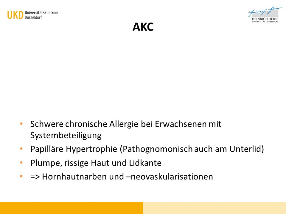 AKC Schwere chronische Allergie bei Erwachsenen mit Systembeteiligung