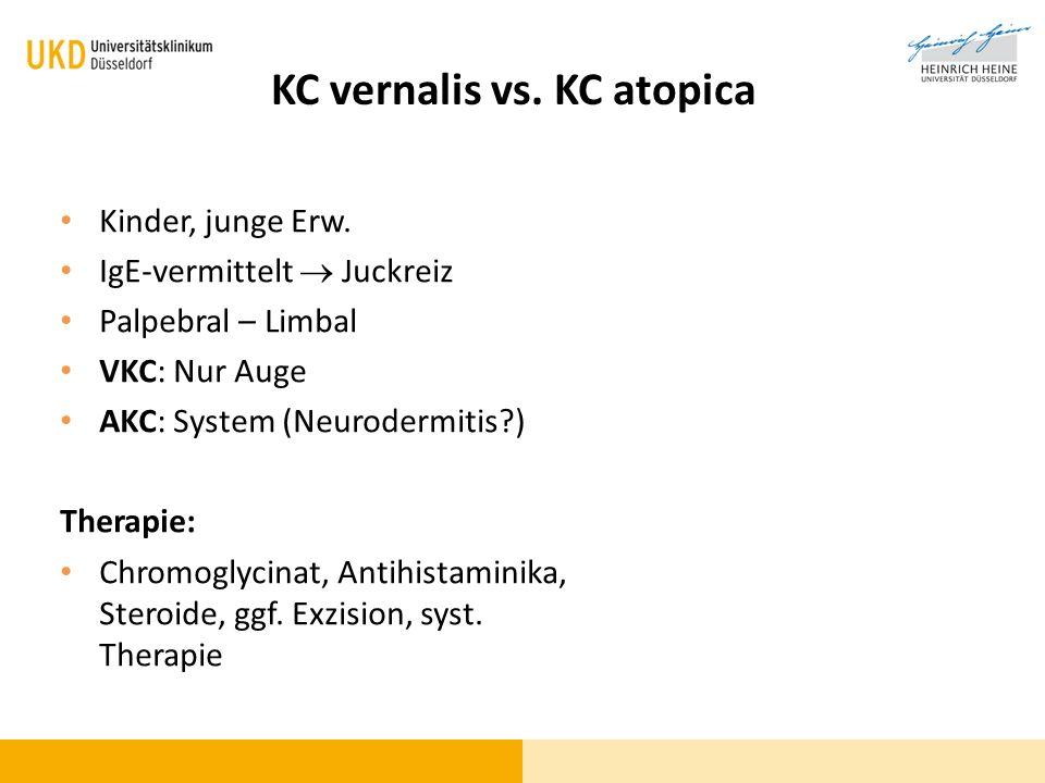 KC vernalis vs. KC atopica