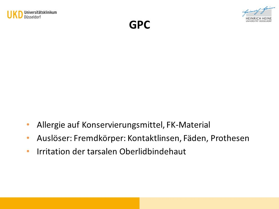 GPC Allergie auf Konservierungsmittel, FK-Material