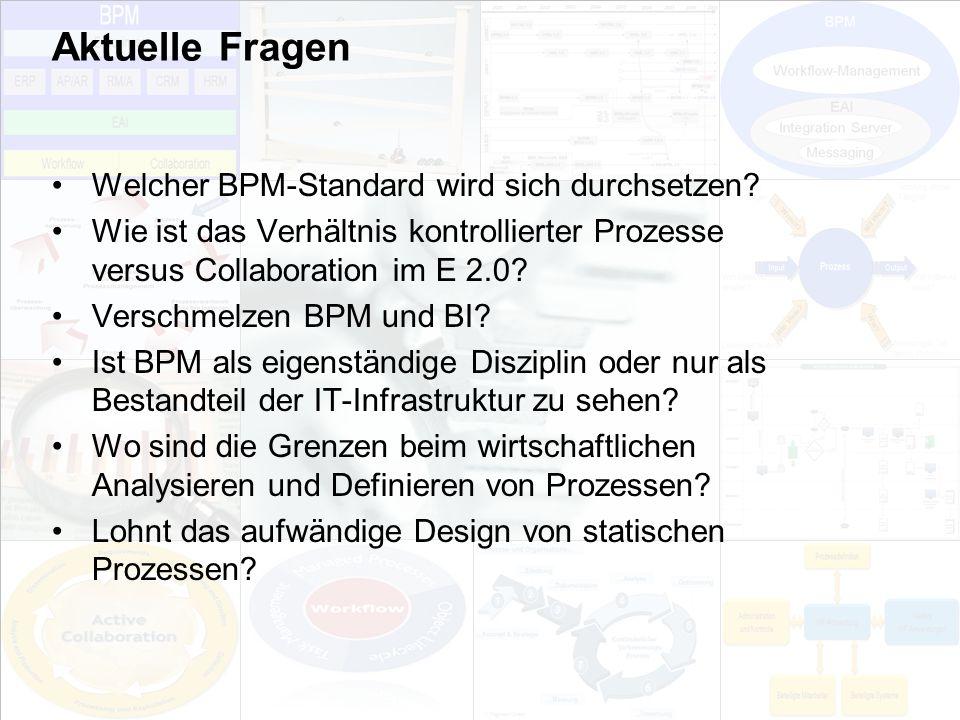 Aktuelle Fragen Welcher BPM-Standard wird sich durchsetzen