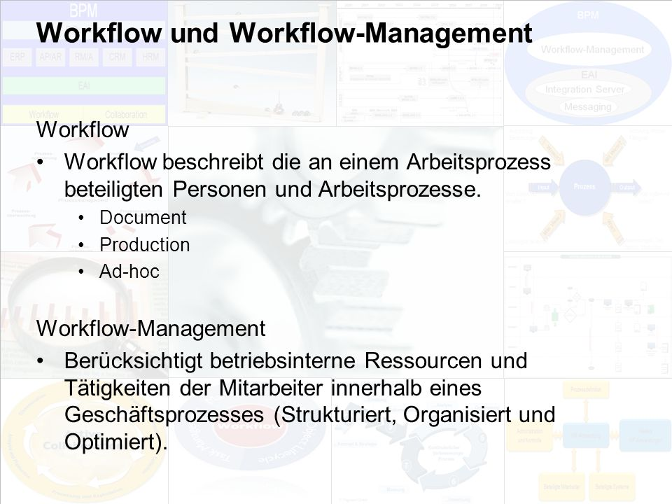 Workflow und Workflow-Management