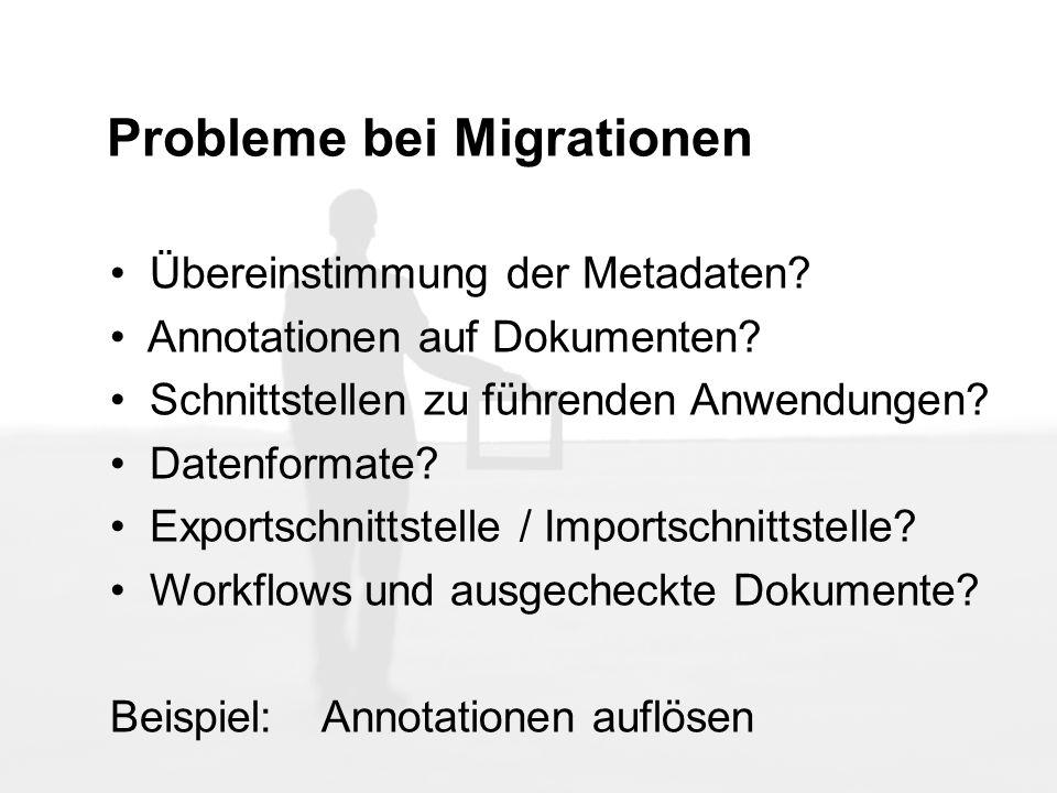 Probleme bei Migrationen