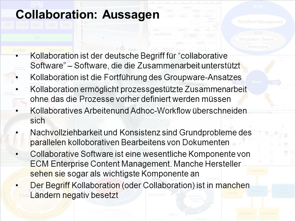 Collaboration: Aussagen