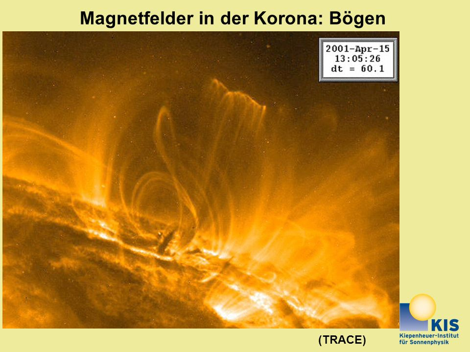 Magnetfelder in der Korona: Bögen