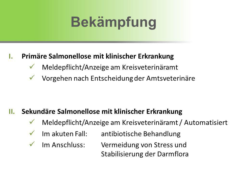 Bekämpfung Primäre Salmonellose mit klinischer Erkrankung