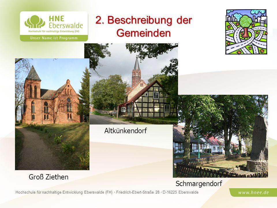 2. Beschreibung der Gemeinden