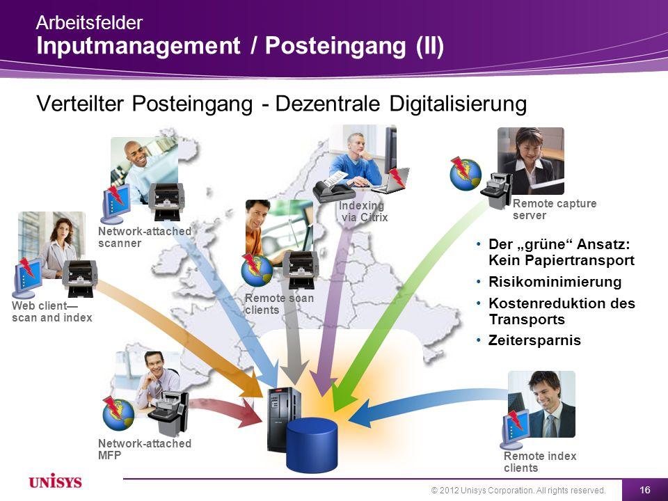 Verteilter Posteingang - Dezentrale Digitalisierung