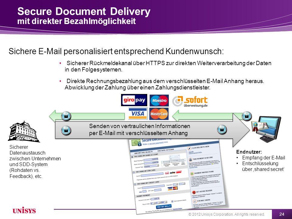 Secure Document Delivery mit direkter Bezahlmöglichkeit