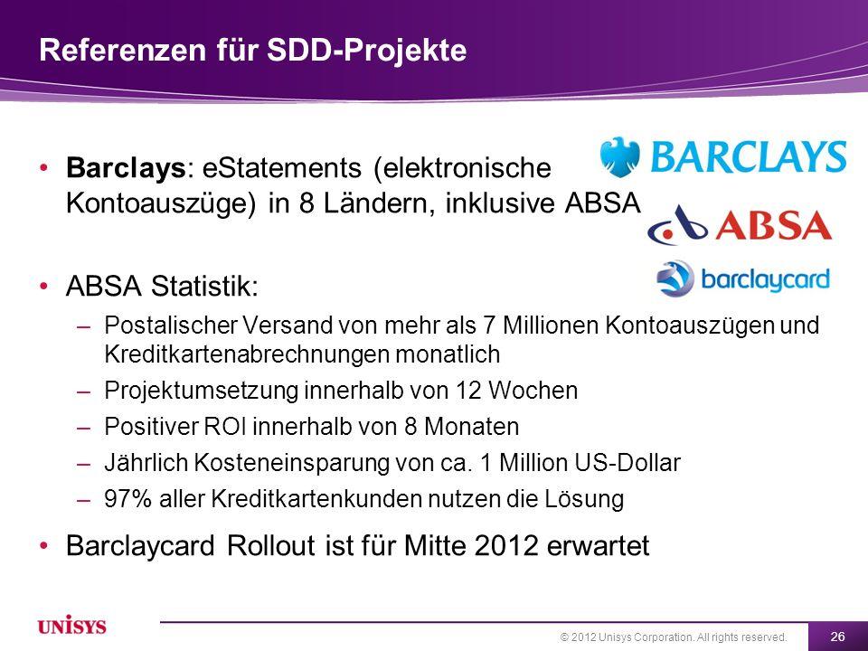Referenzen für SDD-Projekte