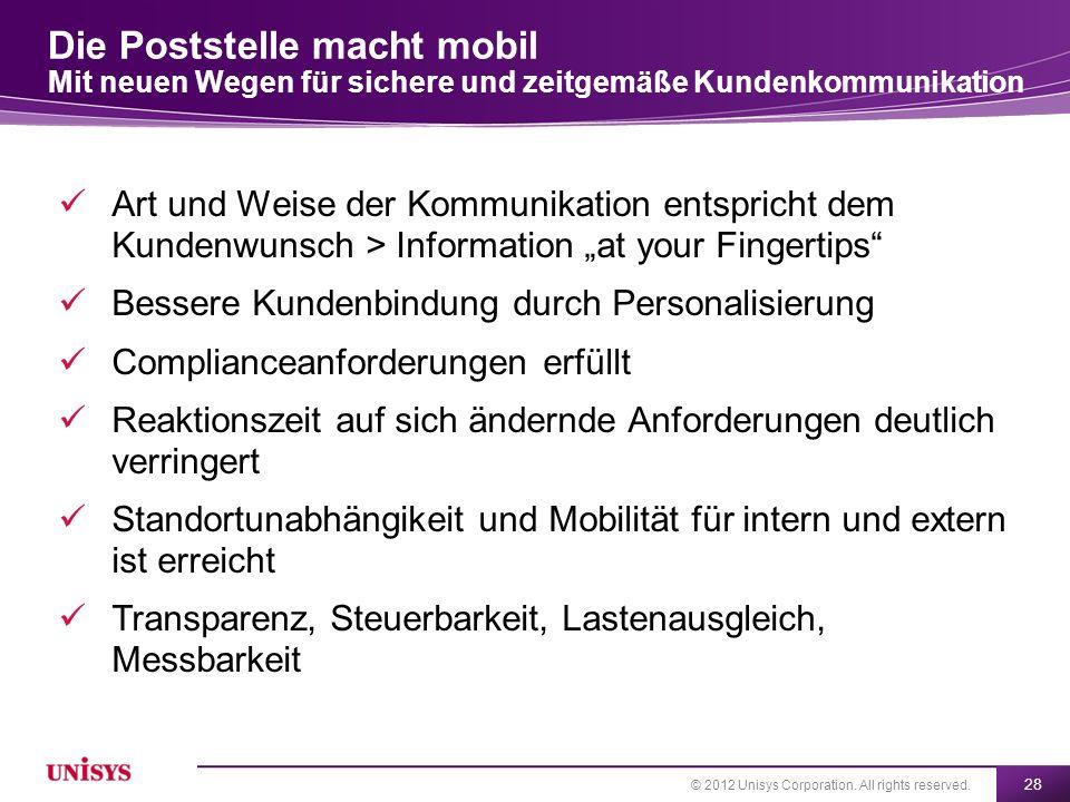 Die Poststelle macht mobil Mit neuen Wegen für sichere und zeitgemäße Kundenkommunikation