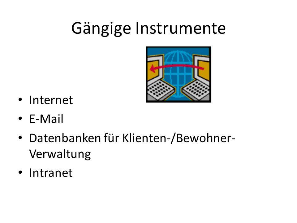 Gängige Instrumente Internet E-Mail