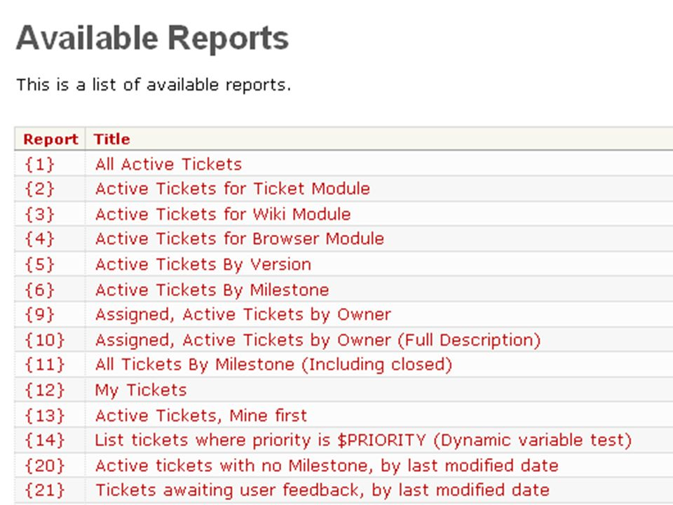 … Reports Gruppierte Darstellung von Ticketinformationen