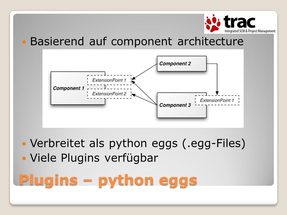 Plugins – python eggs Basierend auf component architecture