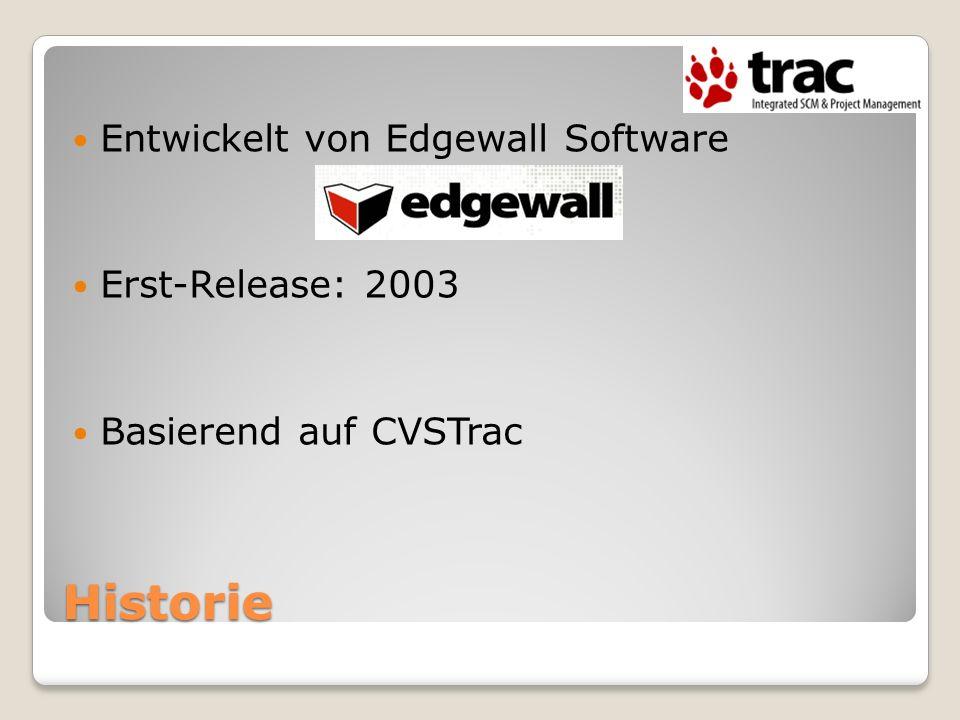 Historie Entwickelt von Edgewall Software Erst-Release: 2003