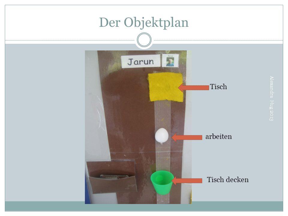 Der Objektplan Tisch Alexandra Hug 2013 arbeiten Tisch decken