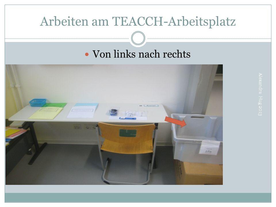 Arbeiten am TEACCH-Arbeitsplatz