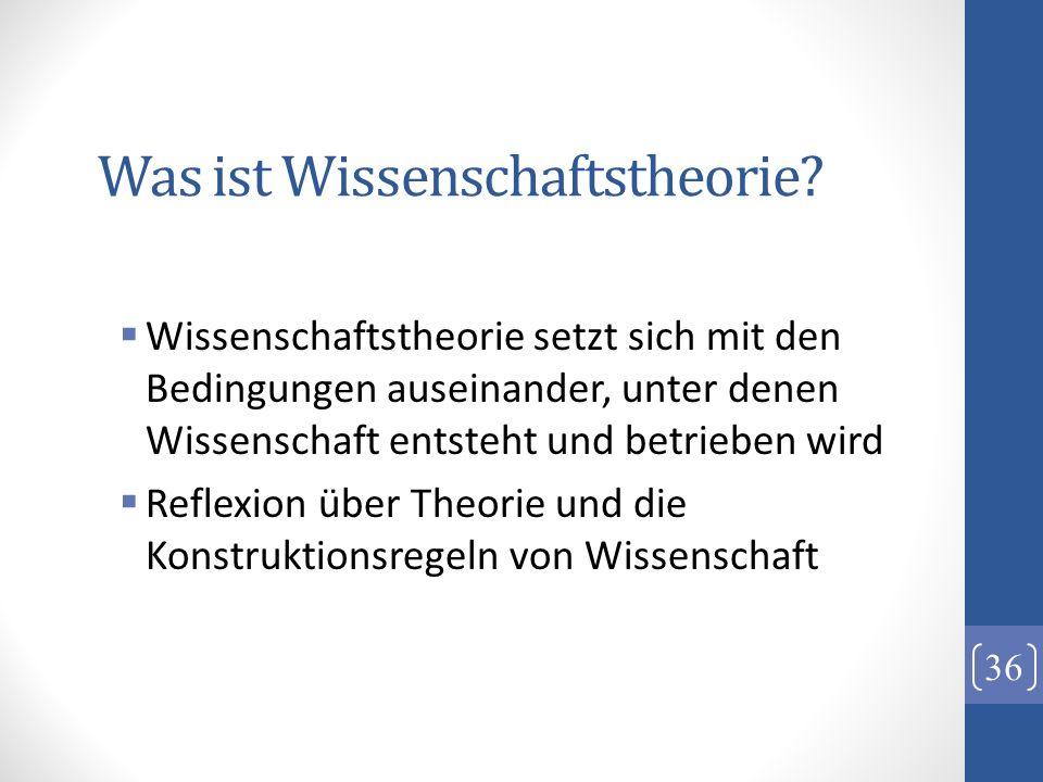 Was ist Wissenschaftstheorie