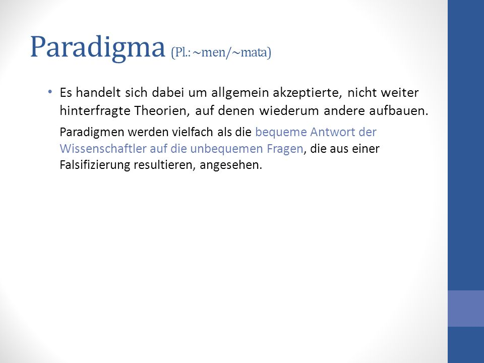 Paradigma (Pl.: ~men/~mata)