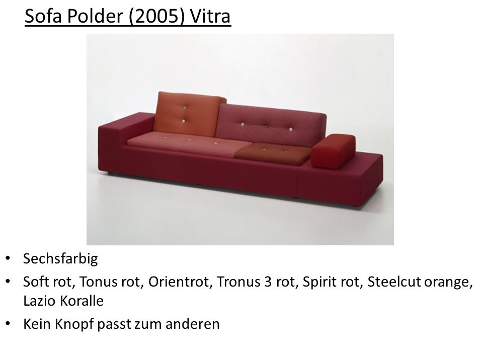Sofa Polder (2005) Vitra Sechsfarbig