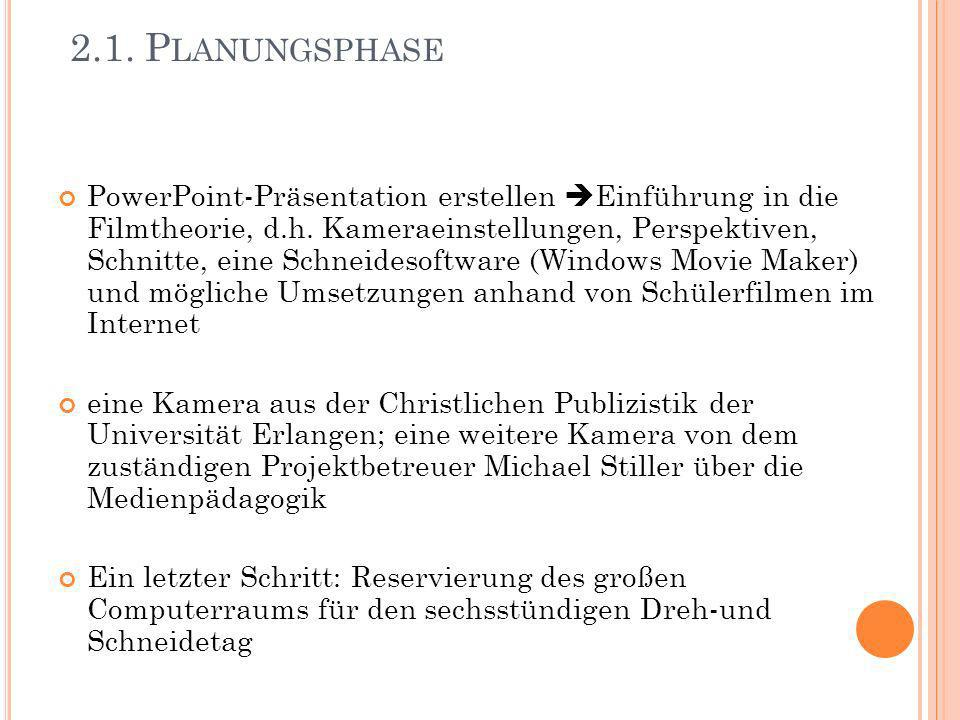2.1. Planungsphase