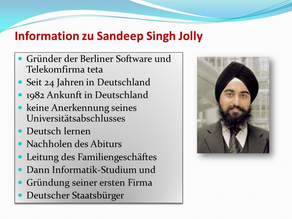 Information zu Sandeep Singh Jolly