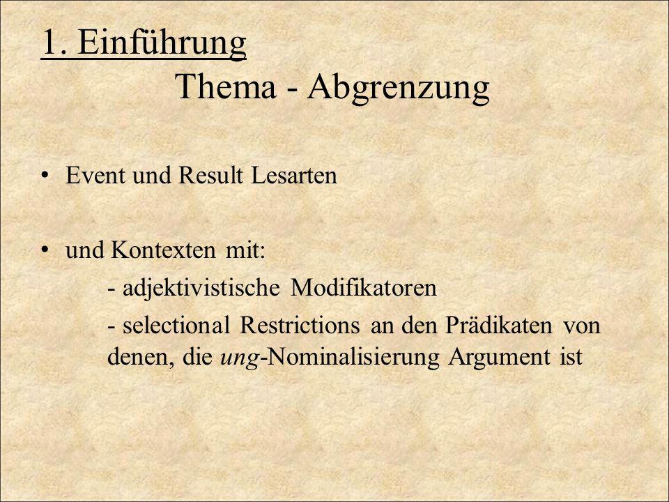 1. Einführung Thema - Abgrenzung