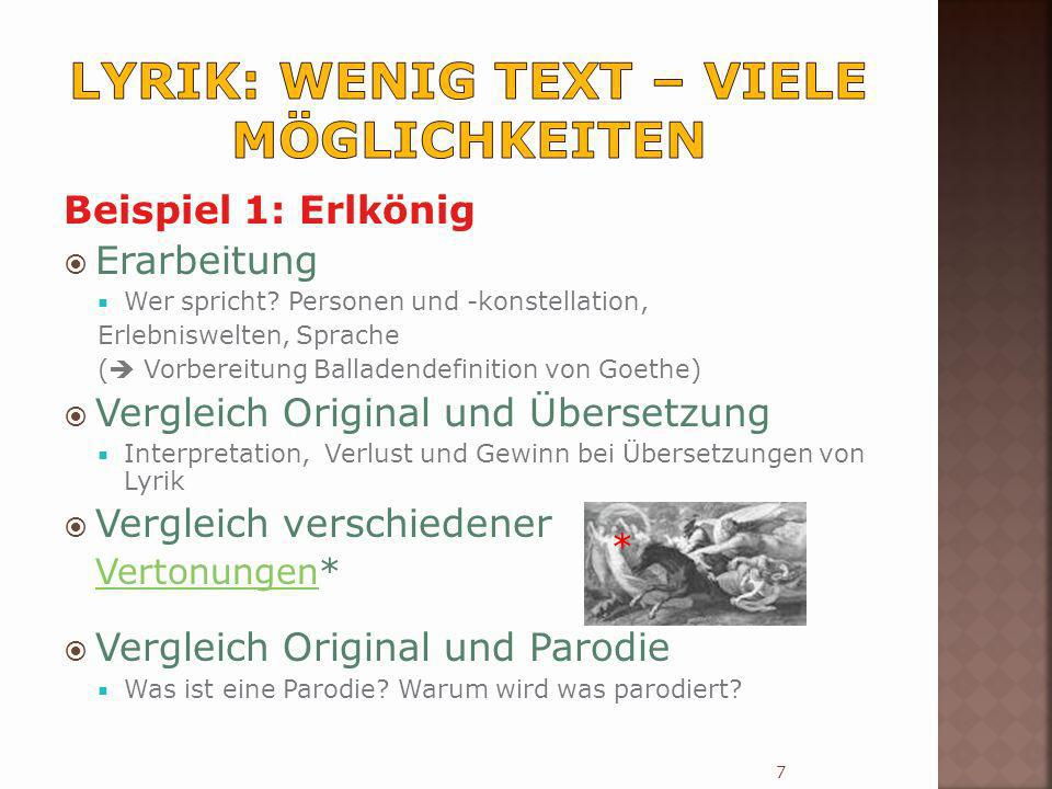 Lyrik: wenig Text – viele Möglichkeiten