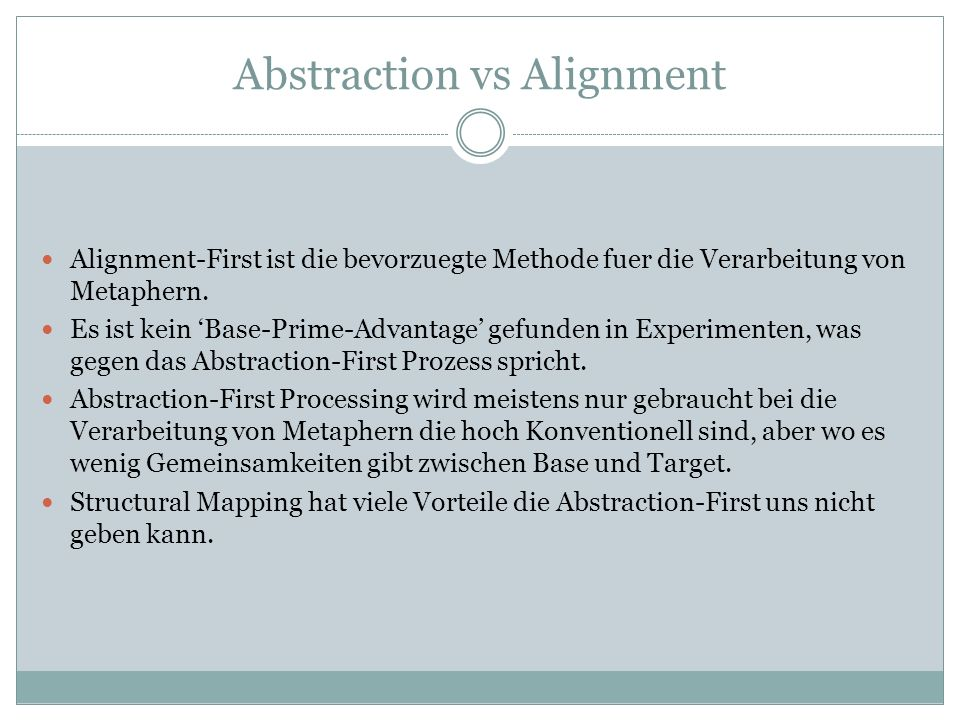 Abstraction vs Alignment