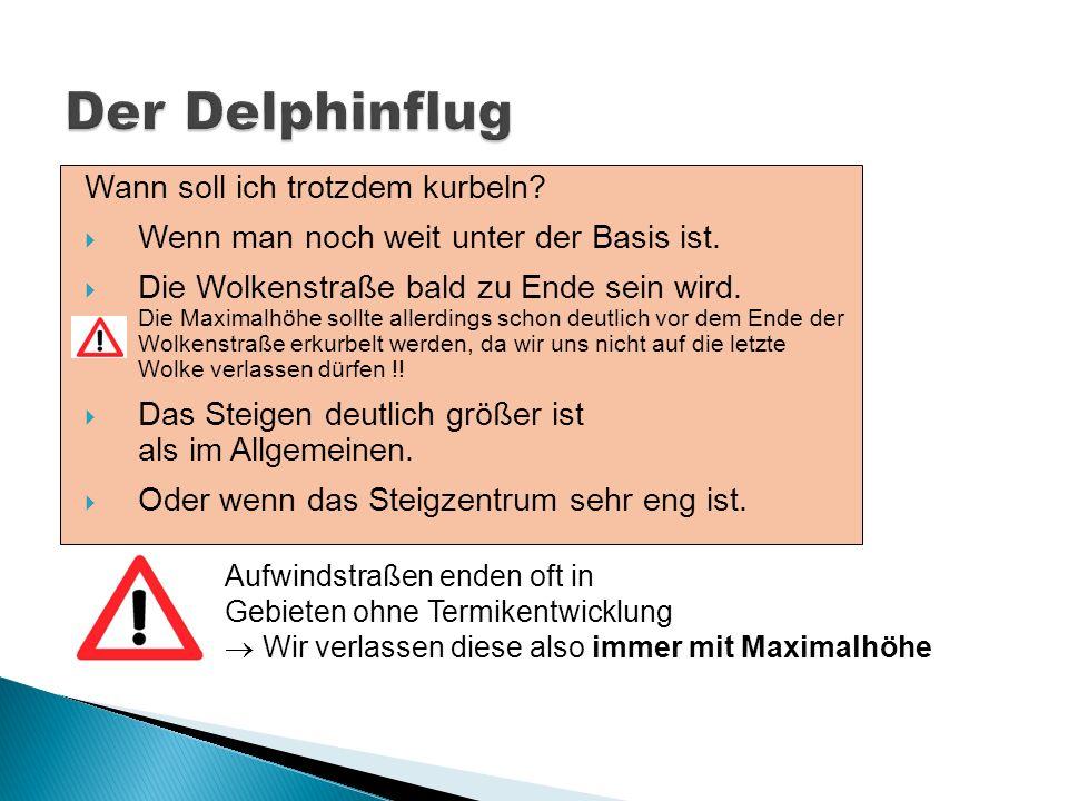 Der Delphinflug Wann soll ich trotzdem kurbeln