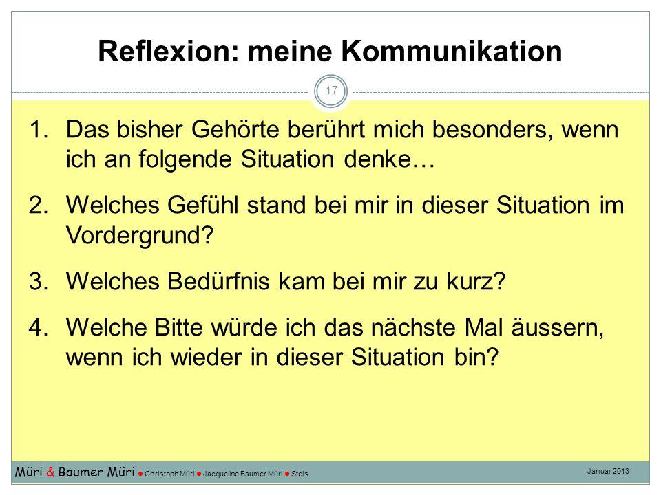 Reflexion: meine Kommunikation