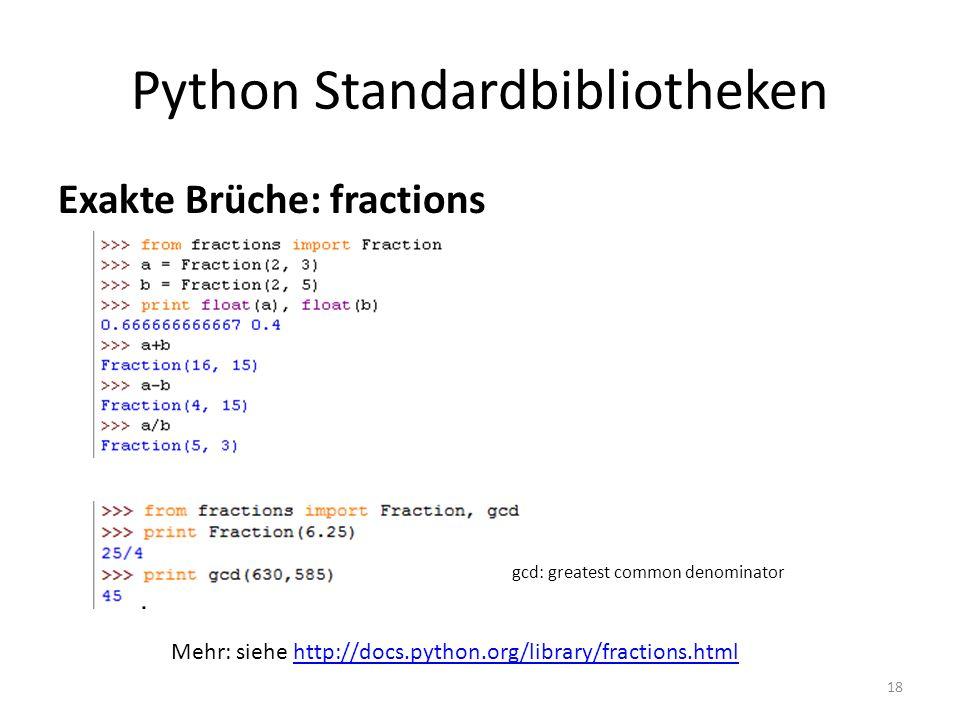 Python Standardbibliotheken
