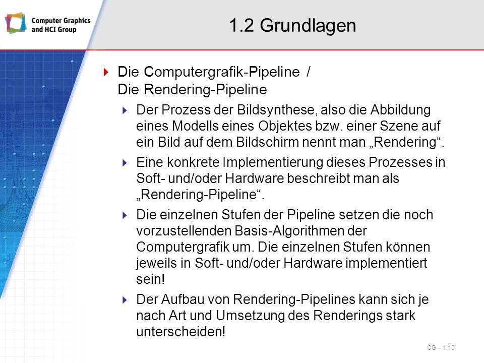 1.2 Grundlagen Die Computergrafik-Pipeline / Die Rendering-Pipeline