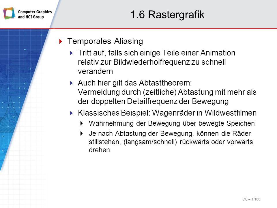 1.6 Rastergrafik Temporales Aliasing