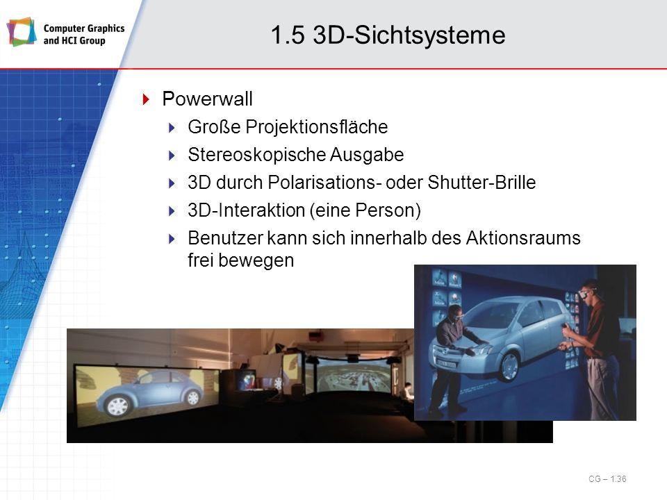 1.5 3D-Sichtsysteme Powerwall Große Projektionsfläche