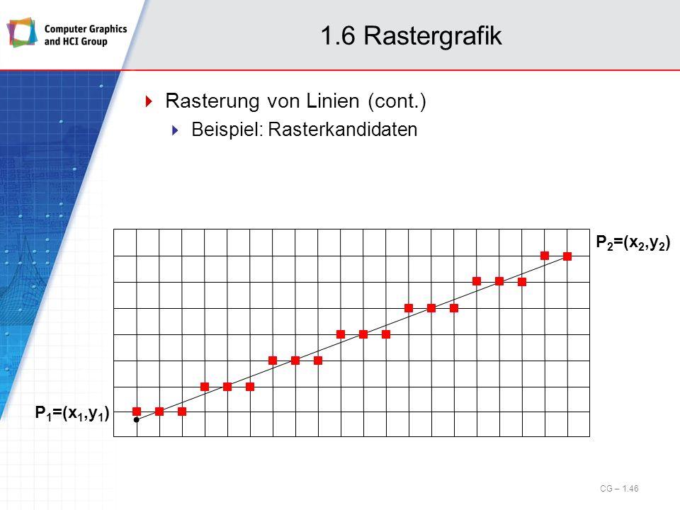 1.6 Rastergrafik Rasterung von Linien (cont.)