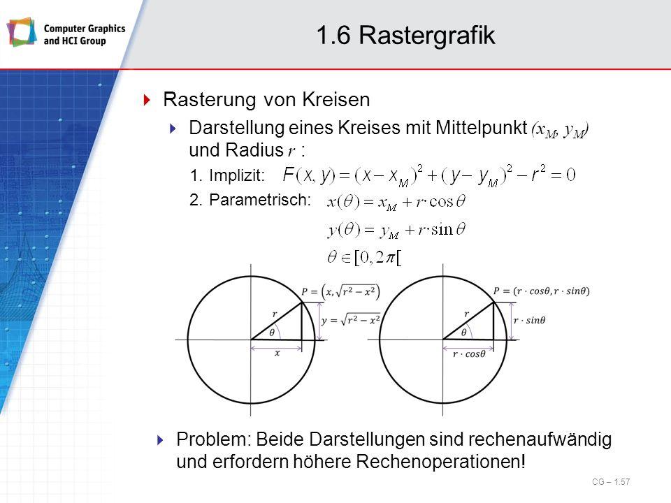 1.6 Rastergrafik Rasterung von Kreisen