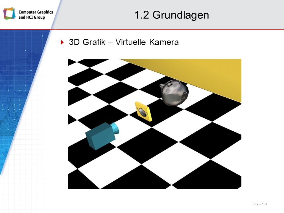 1.2 Grundlagen 3D Grafik – Virtuelle Kamera