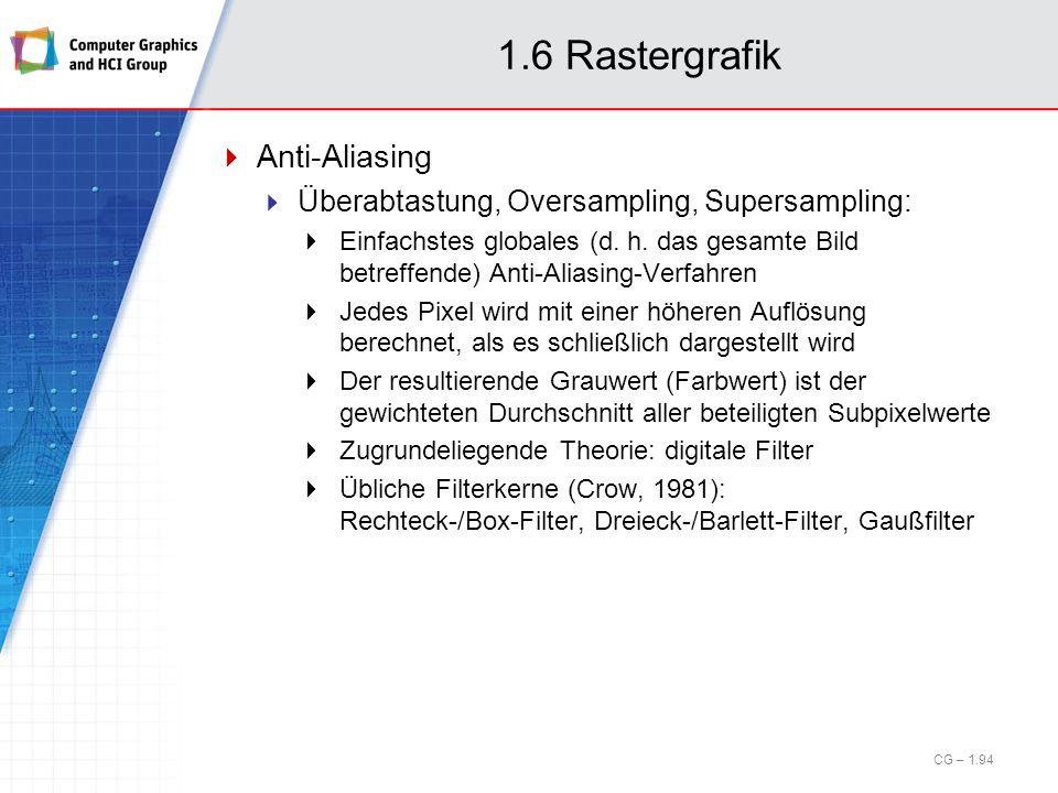 1.6 Rastergrafik Anti-Aliasing