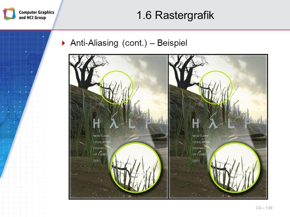 1.6 Rastergrafik Anti-Aliasing (cont.) – Beispiel