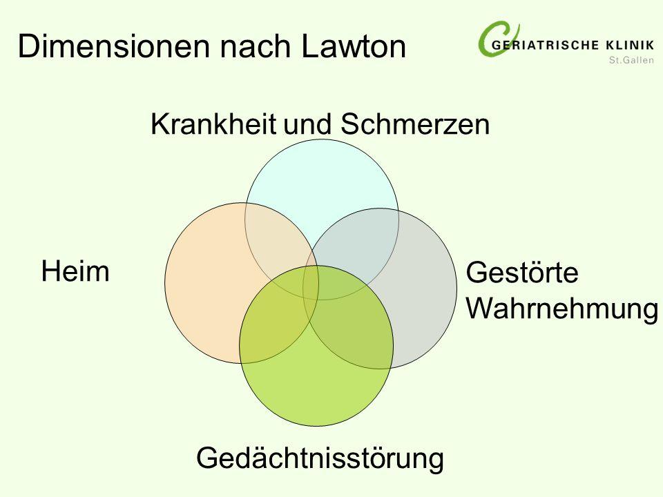 Dimensionen nach Lawton