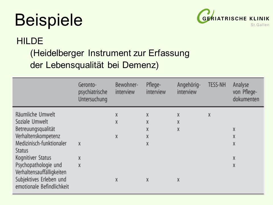 Beispiele HILDE (Heidelberger Instrument zur Erfassung