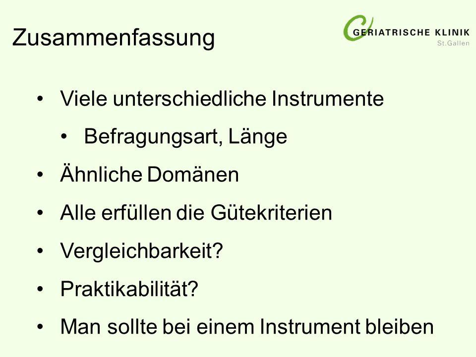 Zusammenfassung Viele unterschiedliche Instrumente