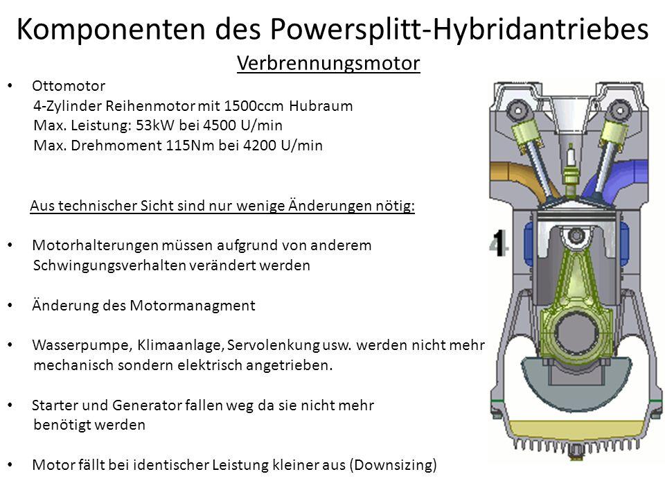 Komponenten des Powersplitt-Hybridantriebes