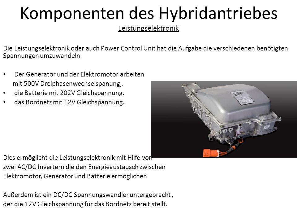Komponenten des Hybridantriebes