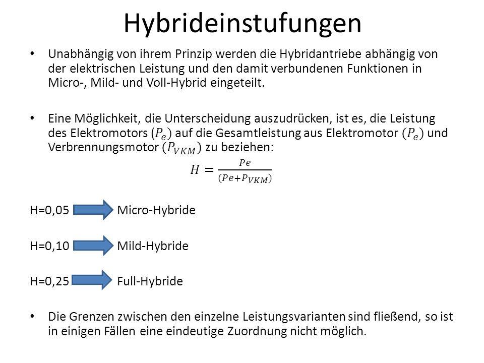 Hybrideinstufungen
