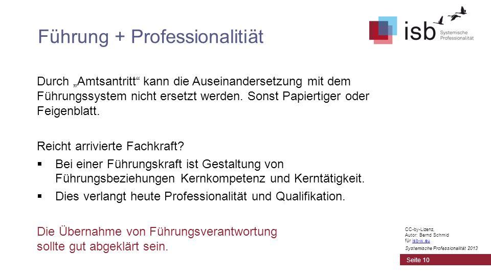 Führung + Professionalitiät