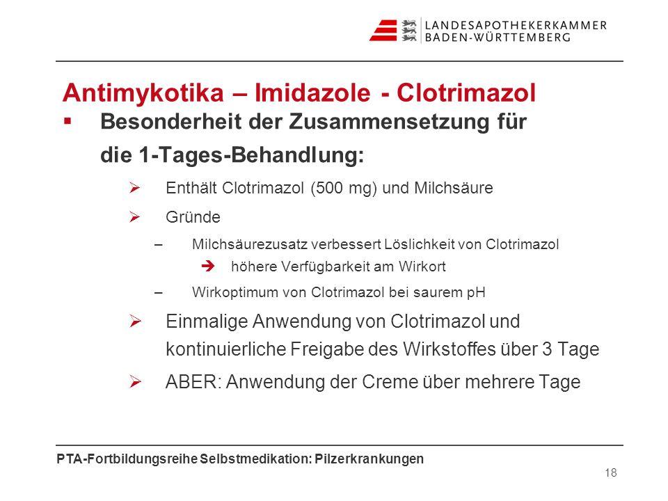 Antimykotika – Imidazole - Clotrimazol