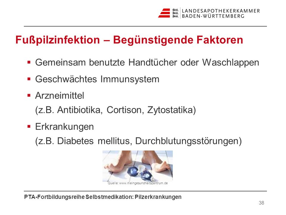 Fußpilzinfektion – Begünstigende Faktoren